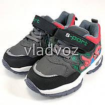Детские кроссовки для мальчика спайдер мен серый с черным 28р., фото 3