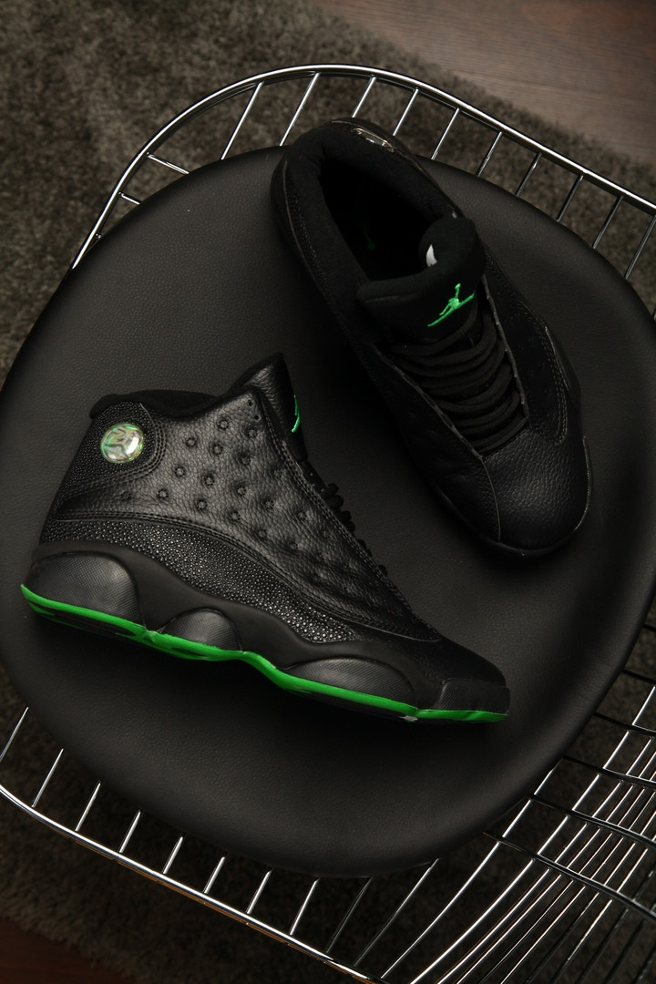 Мужские кроссовки Nike Air Jordan 13 altitude green (Топ качество)