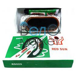 Аптечка Red Sun RS009 для ремонту вело камер і шин, клей , латки, ремкомплект