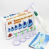 Вакуумные банки массажные антицеллюлитные для домашней терапии с насосом 6 шт