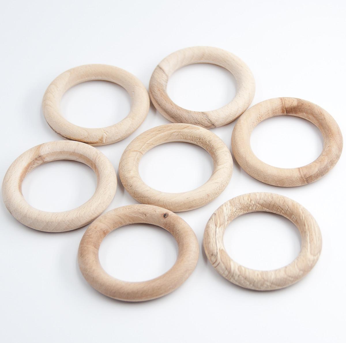 Деревянные кольца 55/9 мм ПОД ОБВЯЗКУ для слингобус и грызунков