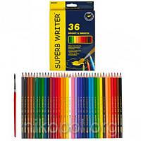 Акварельные карандаши Marco Superb Writer 4120-36CB, 36 цветов с кисточкой