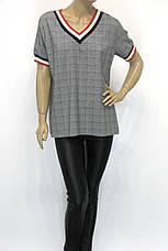 Женская футболка больших размеров в клетку, фото 2