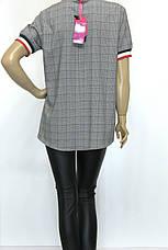 Женская футболка больших размеров в клетку, фото 3