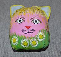 Игрушка сувенир котик ( день ночь)
