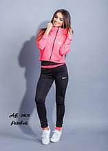 Женский спортивный костюм для фитнеса спорта тройка штаны+топ+кофта микро-дайвинг размер:с,м,л