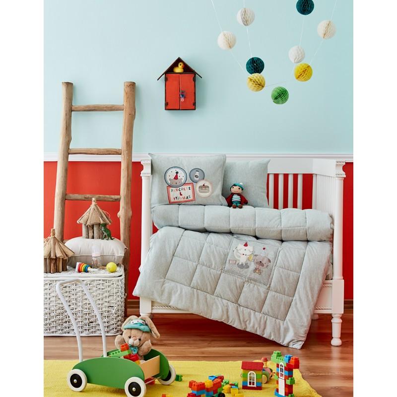 Детский набор в кроватку для младенцев Karaca Home - Pancake 2018-2 su yesil (4 предмета)