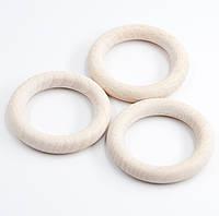 Деревянные кольца для слингобус и грызунков, бук, 55 мм, толщина 9 мм, светлые