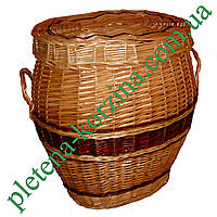 Плетеная корзина для белья Арт.546н