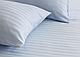 Двуспальное постельное бязь 100% хлопок белое в полоску наволочки 50х70, фото 2