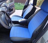 Чехлы на сиденья Рено Логан (Renault Logan) (модельные, экокожа Аригон, отдельный подголовник)