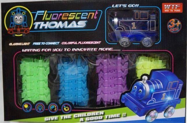 Світна залізниця паровозик Томас Fluorescent Thomas DX