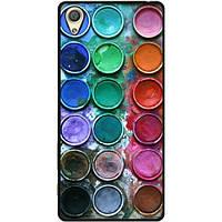 Силиконовый бампер чехол для Sony Z1 L39h C6902 с рисунком Краски