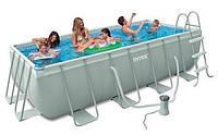 Каркасный бассейн Интекс Intex 26776 с фильтр-насосом и лестницей (400 х 200 х 100 см) Prism Frame Pool