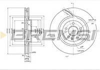 Тормозной диск перед. MB W163 98-05 (345x32)