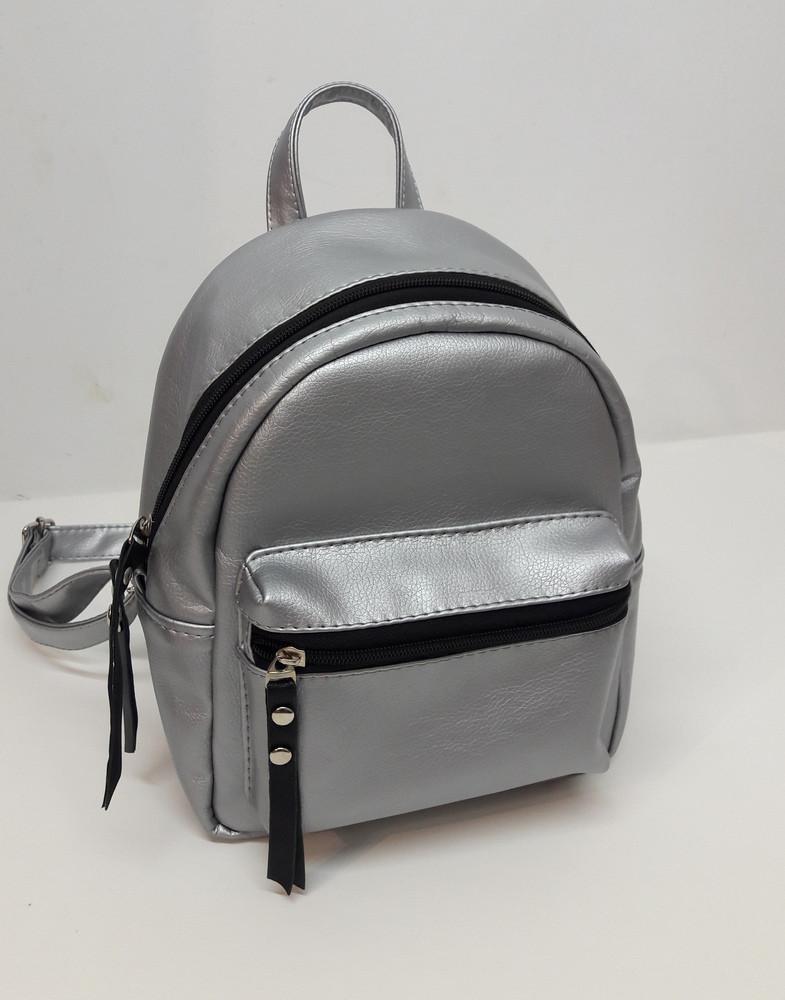 79adf6513cbb Женский рюкзак маленький серебристый серый Sambag Самбег рюкзаки, жіночий  рюкзак, жіночі наплічники