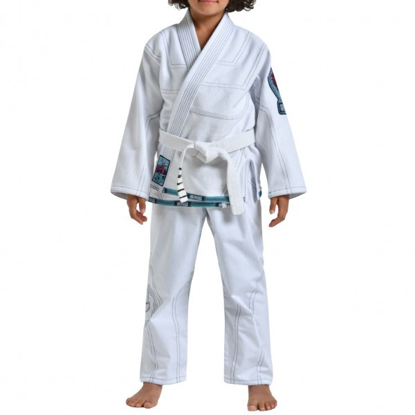 Детское кимоно для бразильского Джиу-Джитсу GR1PS Triple-J White