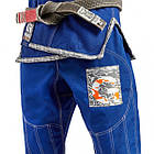 Кимоно для Бразильского Джиу-Джитсу GR1PS Armadura 2.0 Camo Edition Синее, фото 6