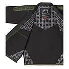 Кимоно для Бразильского Джиу-Джитсу GR1PS Classic Черное с зеленым, фото 6