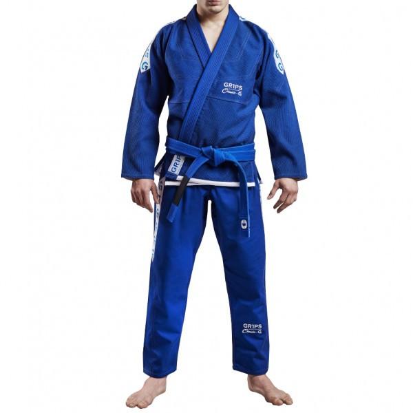 Кимоно для Бразильского Джиу-Джитсу GR1PS Classic Синее с белым