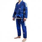 Кимоно для Бразильского Джиу-Джитсу GR1PS Classic Синее с белым, фото 2