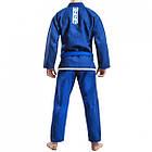 Кимоно для Бразильского Джиу-Джитсу GR1PS Classic Синее с белым, фото 4