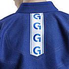 Кимоно для Бразильского Джиу-Джитсу GR1PS Classic Синее с белым, фото 5
