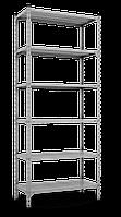 215х90х60, 150 кг на полку 5 полок из стали КБ-12 Комби полочный на болтах архивный оцинкованный, фото 4