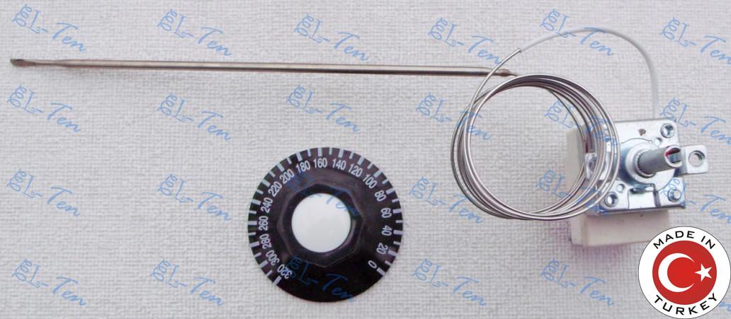 Терморегулятор механический от 0 до 320*С (16 А / 250 В) на 3 контакта. Sanal (Турция)