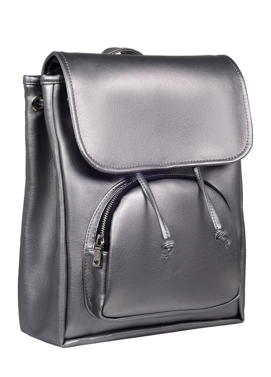 Женский рюкзак серебристый SamBag разные размеры 22293004