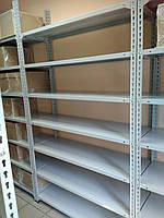 310х120х50, 150 кг на полку 6 полок из стали КБ-32 Комби полочный на болтах архивный оцинкованный, фото 4