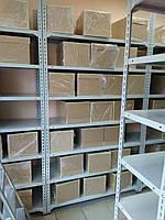 310х120х50, 150 кг на полку 6 полок из стали КБ-32 Комби полочный на болтах архивный оцинкованный, фото 6