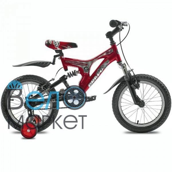 """Велосипед дитячий Crossride Bravo 16"""" AMT двухподвесной / сталевий / червоний"""