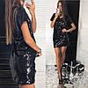 Красивое платье, пайетка на подкладке. Размер: С, М. Цвет: чёрный (728), фото 4
