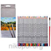 Акварельные карандаши Marco Raffine 7120-24CB, 24 цветов с кисточкой, фото 1