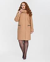 Демисезонное пальто свободного кроя с капюшоном c24bf710bdcc5
