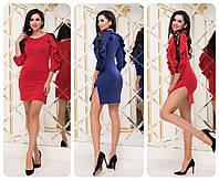"""Женское платье платье с рукавами воланами  ( жіноче плаття ) """"Лилу"""""""