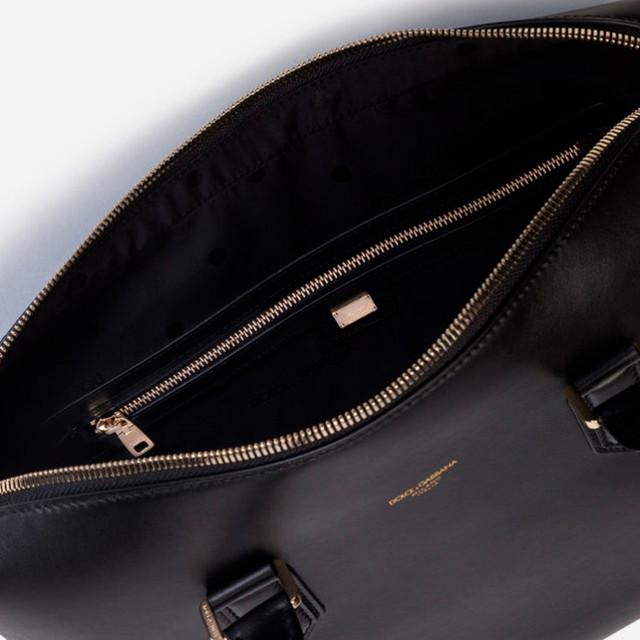 Мужской портфель из телячьей кожи Dolce&Gabbana