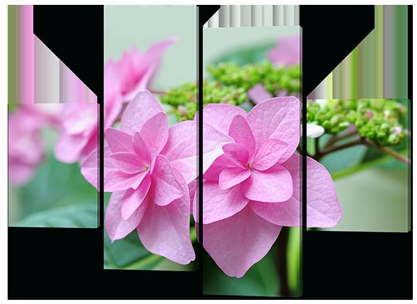 Модульная картина Interno Эко кожа Садовый цветок 146x108см (A454L)