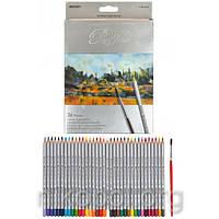 Акварельные карандаши Marco Raffine 7120-36CB, 36 цветов с кисточкой