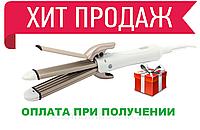 Плойка для укладки волос утюжок, керамический выпрямитель, щипцы, стайлер гофре 4 в 1 Gemei GM 2962, фото 1