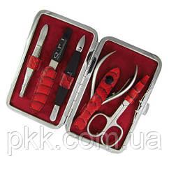 Маникюрный набор QPI PROFESSIONAL в чехле на 7 предметов красный QN-152