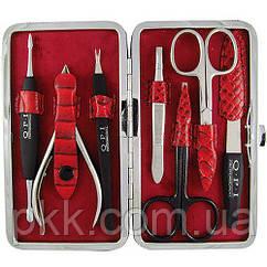 Маникюрный набор QPI PROFESSIONAL в чехле на 5 предметов красный QN-142