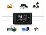 8 в 1 150V 20A 3KW DC Цифровой вольтметр, амперметр, емкости, ваттметр, таймер, термометр, фото 5