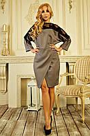Стильное женское платье с юбкой на запах размер С