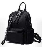 Рюкзак нейлон черный с цепями, фото 1