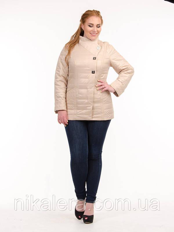 Куртка из ткани Лаке на кнопках рр 46-54