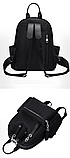 Рюкзак нейлон черный с цепями, фото 2