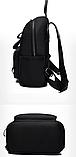 Рюкзак нейлон черный с цепями, фото 3