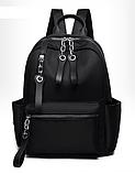 Рюкзак чорний нейлон з ланцюгами, фото 6